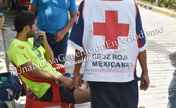 Motociclista derrapa y se lesionada | LVDT