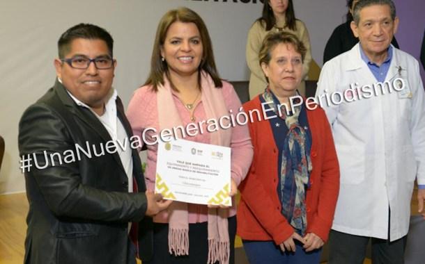 Recibe DIF de Chicontepec equipamiento para Área de Rehabilitación