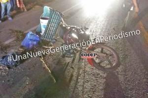 Motociclista se impacta contra camión cañero | LVDT