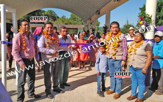 Entrega Pedro Adrián Martínez Estrada Salón de Usos Múltiples en Tecomaxochitl Segundo | LVDT