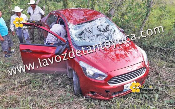 Resulta ileso tras aparatosa volcadura, en Tantoyuca | LVDT