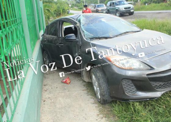 Destroza su vehículo tras derrapar; un lesionado | LVDT
