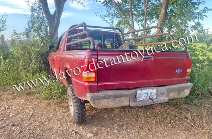 Mujer resulta lesionada tras salida de camino, en Tantoyuca | LVDT