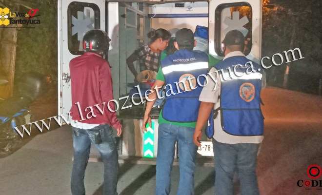 Derrapan hermanos por esquivan un perro, en Tantoyuca | LVDT