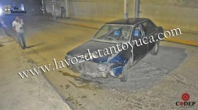 Resulta ileso tras chocar en la 10 de Mayo | LVDT