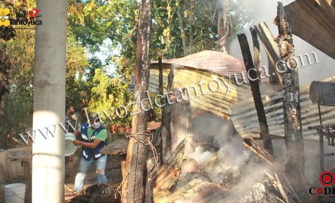 Perdidas materiales deja incendio de molino en Tantoyuca   LVDT