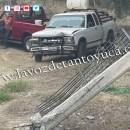 Destroza el portón de una vivienda con su camioneta | LVDT