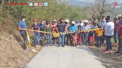 Entrega David Guzmán rehabilitación de camino rural en la Sexta Sección | LVDT