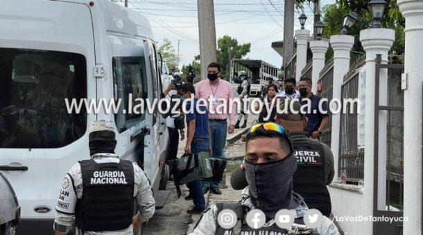 Trasladan a Xalapa boletas de Tantoyuca