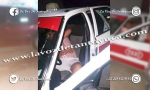 Ebrio taxista provoca percance vial en la Banrural; resultó ileso | LVDT