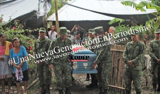 Despiden a Jesús Mendoza, soldado abatido en Guerrero, con ceremonia oficial, en Tantoyuca | LVDT