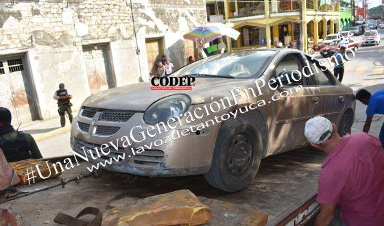 Asegura Tránsito Municipal vehículo de dudosa procedencia | LVDT