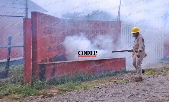 Fumigan para combatir Dengue, Zika y Chikungunya en Chicontepec | LVDT