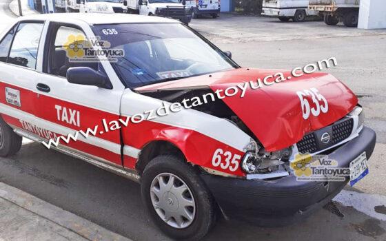 Taxista provoca percance vial; se registran solo daños materiales | LVDT