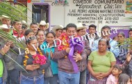 Inaugura alcalde en Tepoxteco comedor comunitario