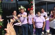 Entrega Pedro Adrián Martínez comedor comunitario en Tepetlaixco