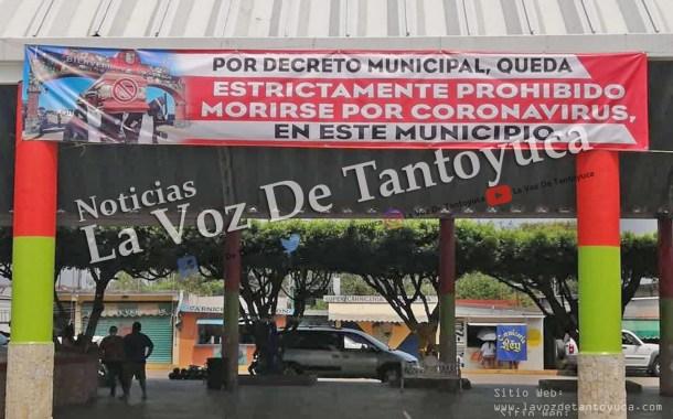 Por decreto, alcalde prohíbe a la población morirse por Coronavirus, en Soconusco