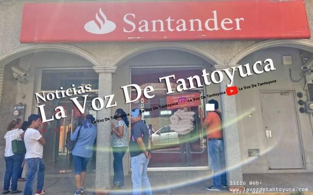 Reportan fallas en cajeros automáticos y en App de Grupo Santander