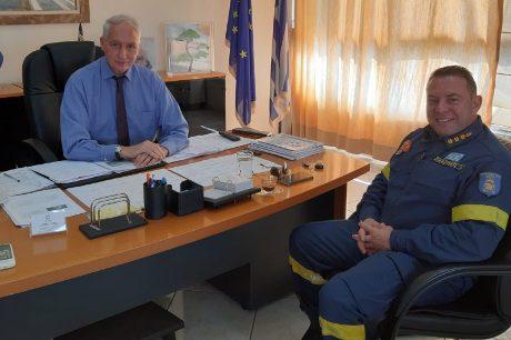 Συνάντηση του Θανάση Αυγερινού με τον Διοικητή Πυροσβεστικής Υπηρεσίας Λαυρίου