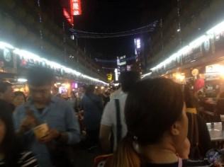 Llegando al mercado nocturno de Keelung