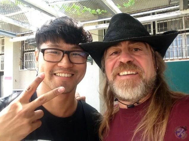Con Gary recién llegados a la escuela