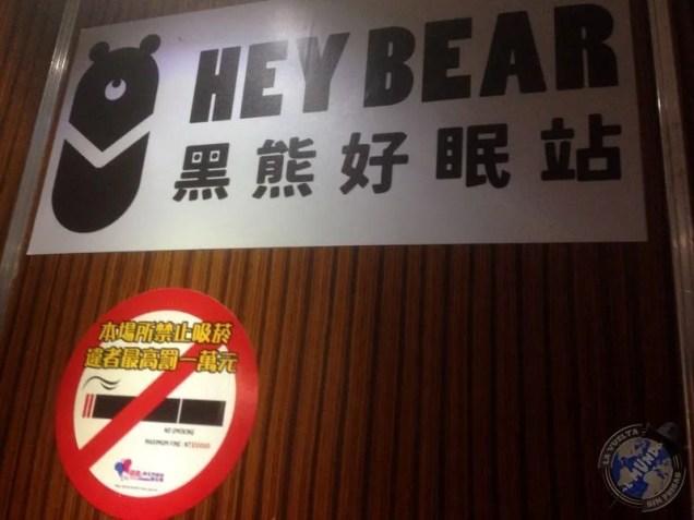 Heybear hostel donde pasé la última noche en Taiwán
