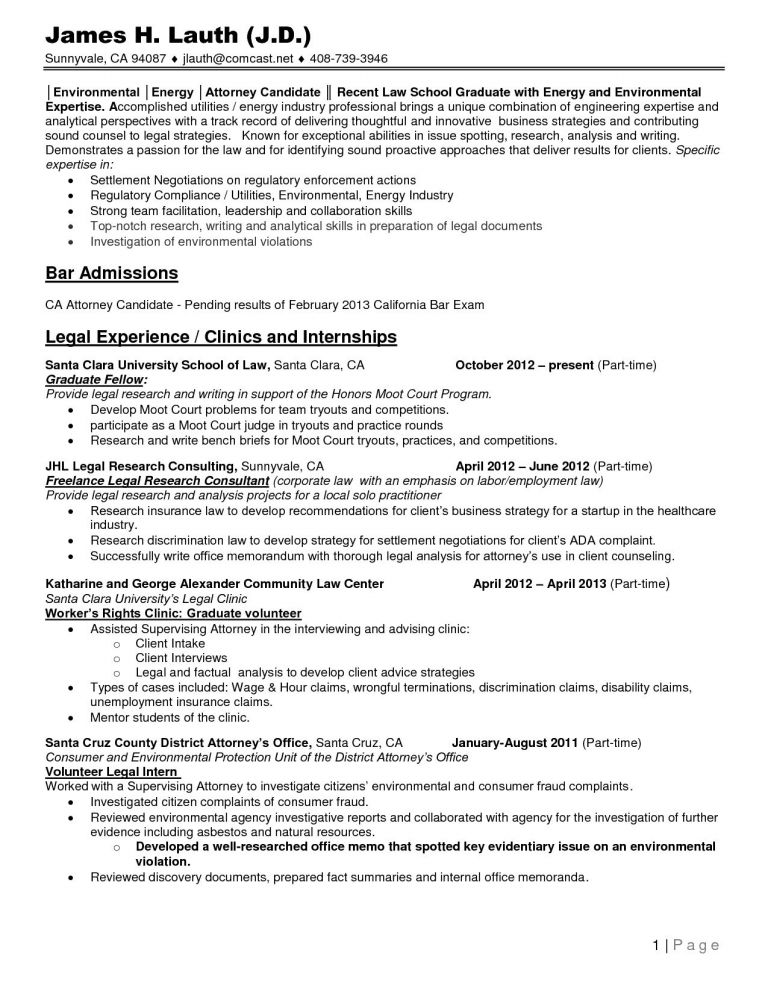 admissions resume template