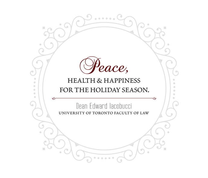 Peace, Health and Happiness for the Holiday Season