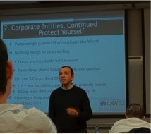 Fadi Amer lectures at USC