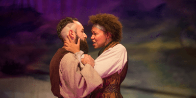 Chris Simpson and Tammy Brown in Macbeth (photo by Seth Jacobson)
