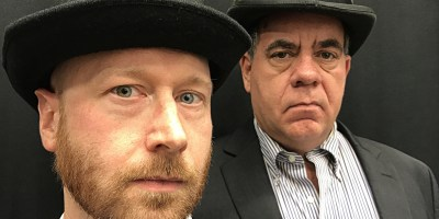 Dan Fischer and Geoff Leatham in Counter-Productions Theatre Company's production of Waiting For Godot