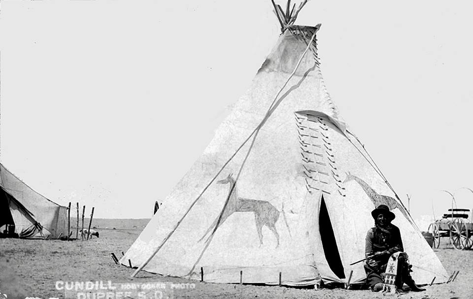 Edward Clown's grandfather Fights the Thunder. He was one of Crazy Horse the warrior's in-laws.