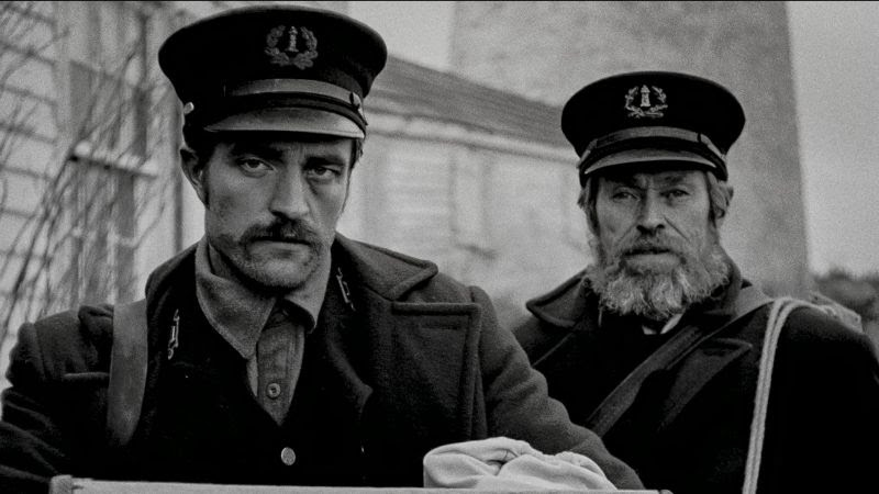 Robert Pattinson and Willem Defoe in The Lighthouse