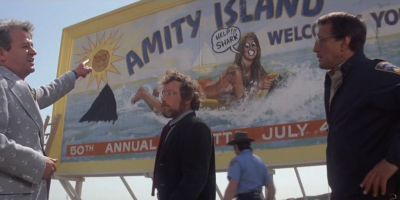 The billboard from Steven Spielberg's Jaws