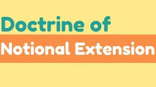 Application of Doctrine of Notional Extension With Respect to Employees' Compensation