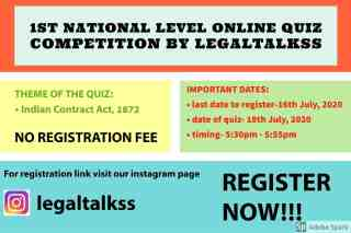 1592999088076 My Post resize 8 1ST NATIONAL LEVEL ONLINE QUIZ COMPETITION ON CONTRACT LAW BY LEGALTALKSS - NO REGISTRATION FEE- REGISTER BY JULY 16