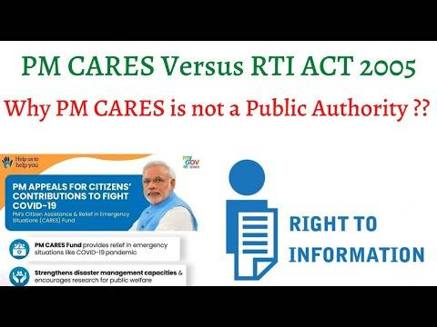 """pm PM-CARES Fund """"Not a Public Authority"""""""
