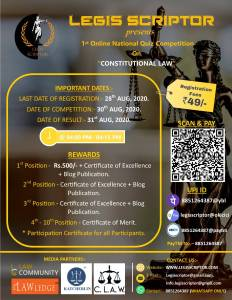 1st Online National Quiz Competition By Legis Scriptor 1 1 User