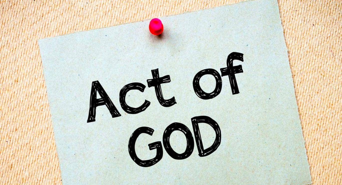Act of God / Vis major as defence for tortious liability