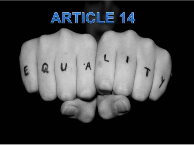 Equality before Law - Article 14 of Constitution of India