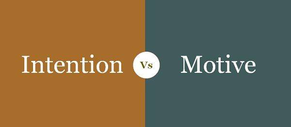 Difference between intention and motive under law of Torts