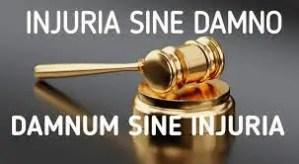 Injuria sine damnum and damnum sine injuria