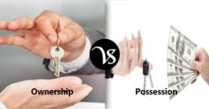 Relation between possession and ownership