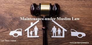 Maintenance of divorced wife and children under Muslim law