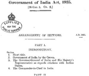 Government of India act, 1935 – salient features