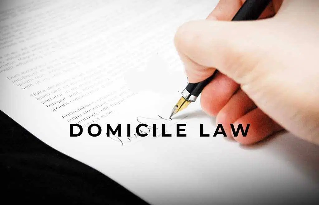 Law related to Domicile in India