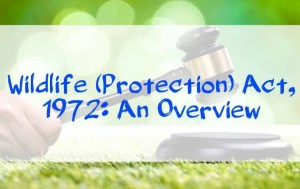 Wildlife (protection) Act 1972 - An overview