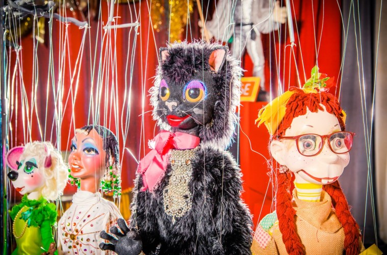 Puppet star Black Cat and his friends at Bob Baker Marionette Theater; Credit: Star Foreman
