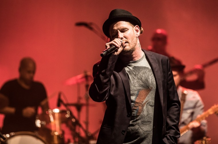 Corey Taylor of Stone Sour and Slipknot performs as part of Celebrating David Bowie at the Wiltern.; Credit: Levan TK