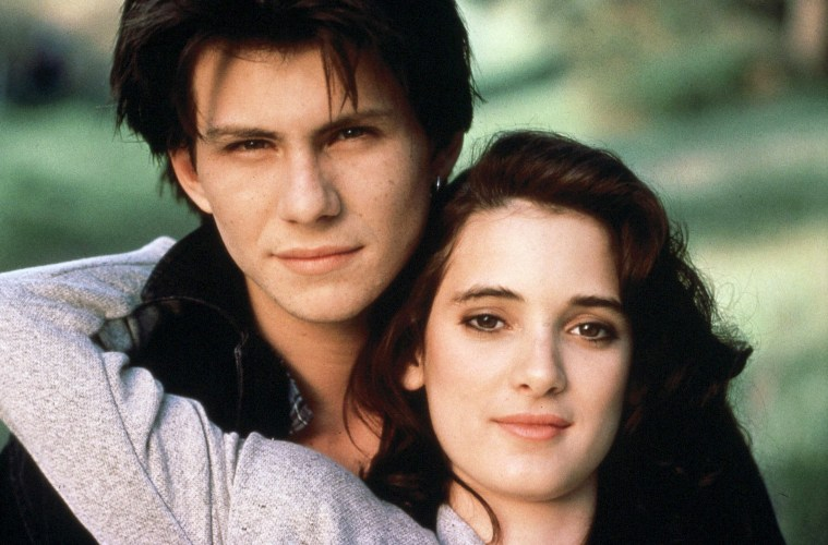 Christian Slater and Winona Ryder in Heathers